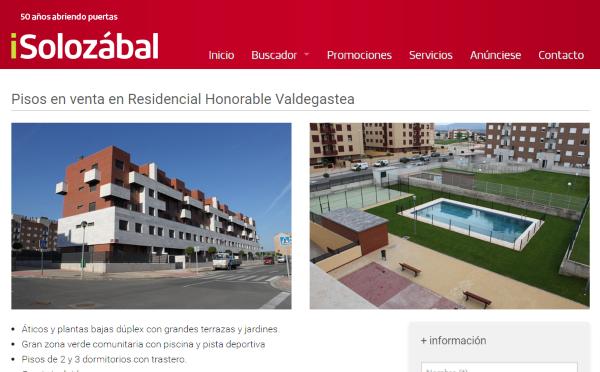 venta de pisos en valdegastea
