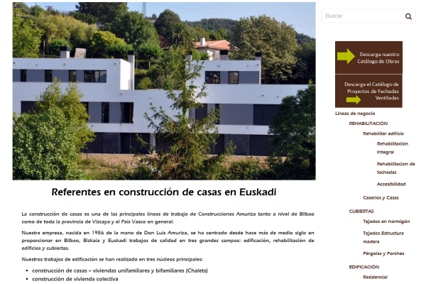 construccion de casas y posicionamiento web