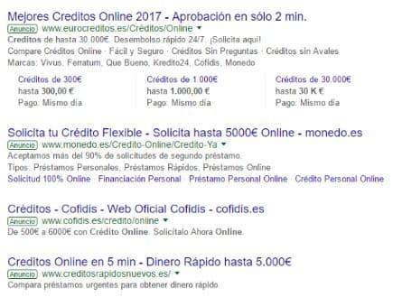 créditos online google